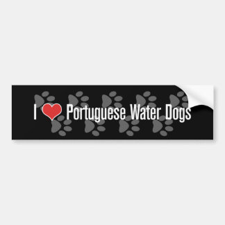 I (heart) Portuguese Water Dogs Bumper Sticker
