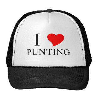 I Heart PUNTING Hats