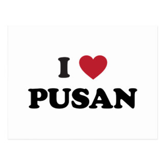 I Heart Pusan South Korea Postcard