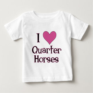 I Heart Quarter Horses Baby T-Shirt