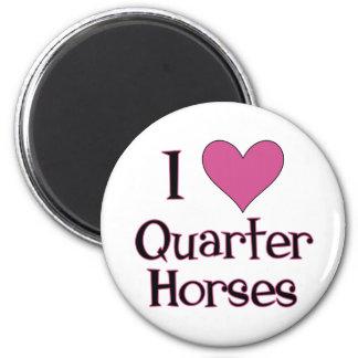 I Heart Quarter Horses Magnet