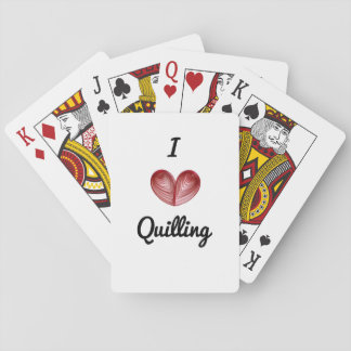 I (heart) Quilling,  Playing Cards