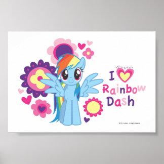 I Heart Rainbow Dash Poster