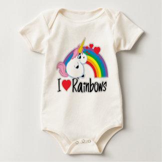 I Heart Rainbows Baby Bodysuit