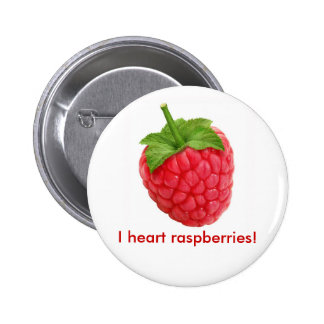 I heart raspberries! 2 inch round button