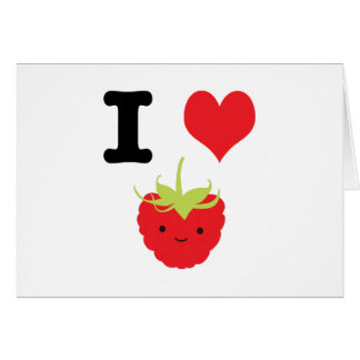 I Heart Raspberry Card
