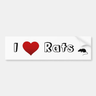 i heart rats bumper sticker