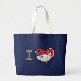 I heart rats large tote bag