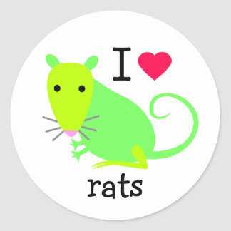 I Heart Rats Sticker