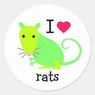 I Heart Rats Sticker