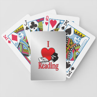 I Heart Reading Bicycle Playing Cards
