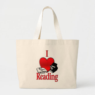I Heart Reading Large Tote Bag