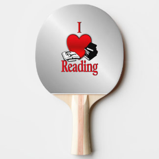 I Heart Reading Ping Pong Paddle