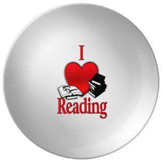 I Heart Reading Plate
