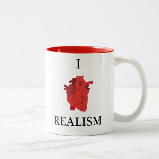 I heart realism Two-Tone coffee mug