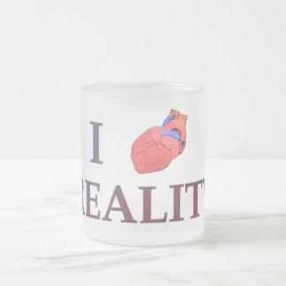 I Heart Reality Frosted Glass Coffee Mug