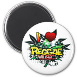 I Heart Reggae Music 2 Inch Round Magnet