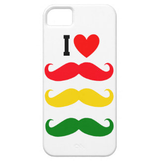 I heart REGGAE Mustache iphone Case
