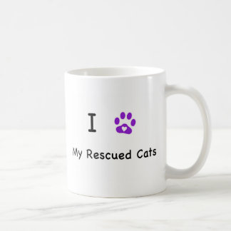 I Heart Rescued Cats Coffee Mug