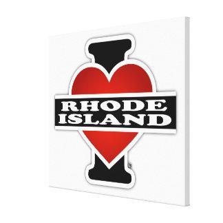 I Heart Rhode Island Gallery Wrap Canvas