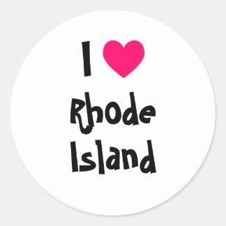 I Heart Rhode Island Round Sticker