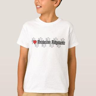 I (heart) Rhodesian Ridgebacks T-Shirt