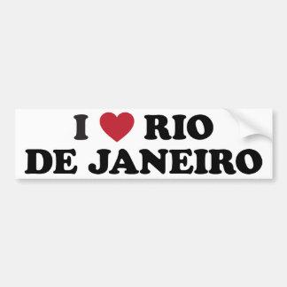 I Heart Rio de Janeiro Brazil Bumper Sticker