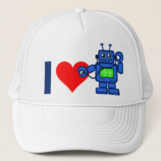 I heart robot trucker hat