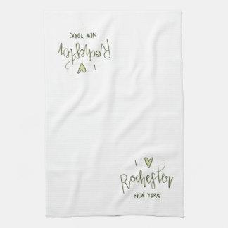 """""""I heart Rochester NY"""" Kitchen Towel [Summer]"""