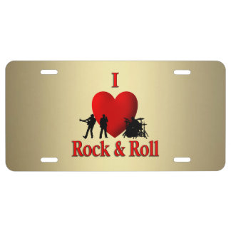 I Heart Rock & Roll License Plate