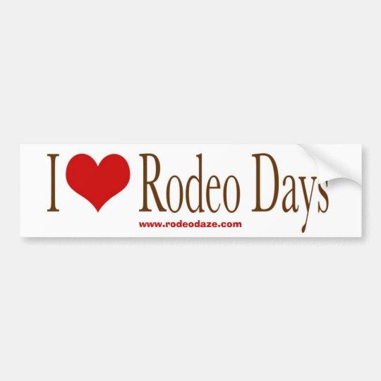 I Heart Rodeo Days Bumper Sticker