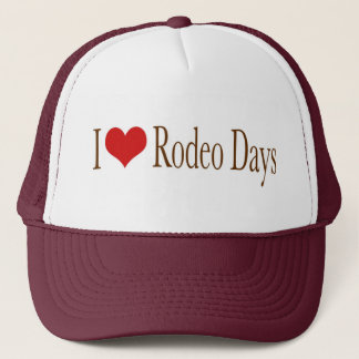 I Heart Rodeo Days Trucker Hat