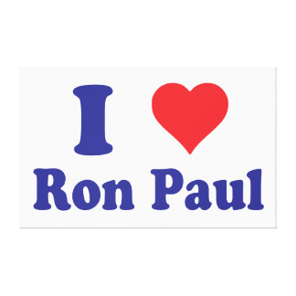 I Heart Ron Paul I Love Ron Paul Stretched Canvas Prints