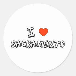 I Heart Sacramento Classic Round Sticker