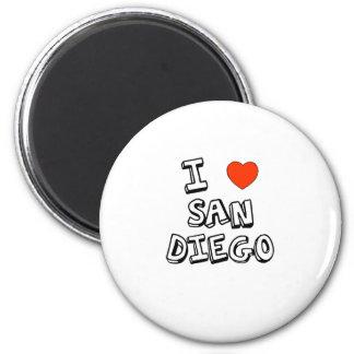 I Heart San Diego 2 Inch Round Magnet