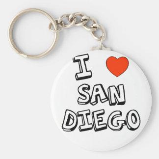 I Heart San Diego Basic Round Button Keychain