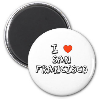 I Heart San Francisco 2 Inch Round Magnet