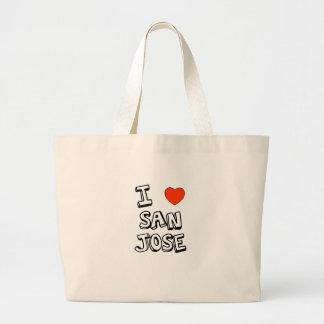 I Heart San Jose Large Tote Bag