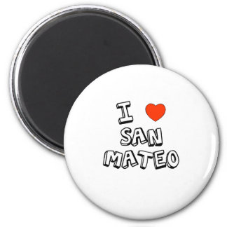I Heart San Mateo 2 Inch Round Magnet