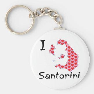 I heart Santorini Keychain