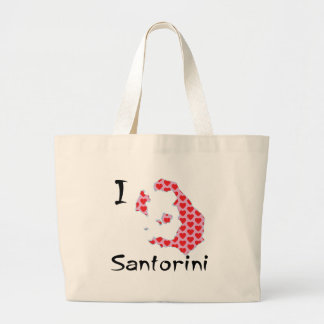 I heart Santorini Large Tote Bag