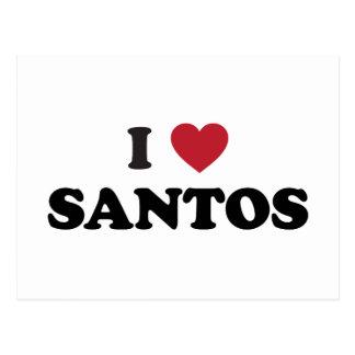 I Heart Santos Brazil Postcard