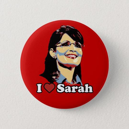 I heart Sarah Palin button colour