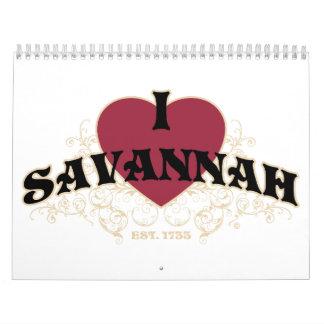 I Heart Savannah Est 1733 calendar