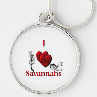 I Heart Savannahs Keychain