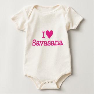 I heart savasana yoga baby bodysuit