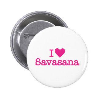 I heart savasana yoga corpse pose 2 inch round button