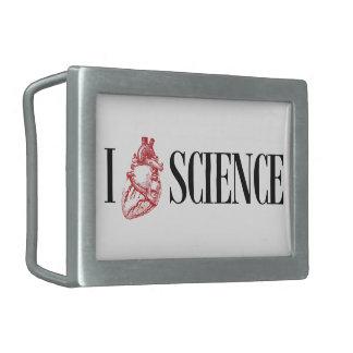 I heart science belt buckle