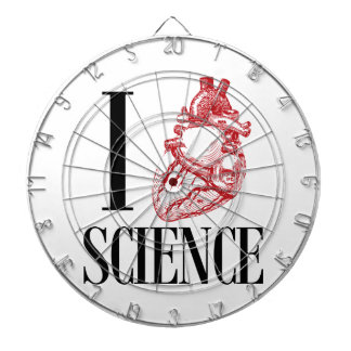 I heart science dartboard