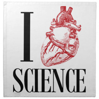 I heart science napkin